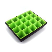 Nursery Pots - 5 Colors Plant Seedling Starter Trays Planting Trays with Pc Green Square Seed Sprout Starter Nursery Pots Set