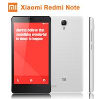 Original Xiaomi Redmi Nota 4G LTE FDD Quad Core Arroz Rojo Hongmi Nota Android 4.4 V6 MIUI teléfono 5.5 '' IPS 1280x720 2GB RAM 13MP libre de DHL