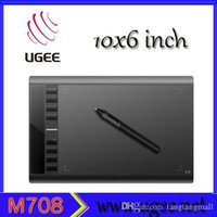 Wholesale UGEE M708 graphic tablet drawing levels digital pen x6 inch big active drawing tablet grafico