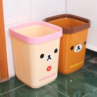 trash cans - fashion cartoon trash can easily bear creative home office trash can peel bucket