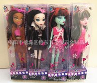 barbie dolls - 2015 girls monster high barbie dolls cm Devil beauty toys kids girl moveable joint doll J062506