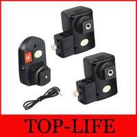 Wholesale PT NE Channels Wireless Speedlite Flash Trigger w Umbrella Hole Holder W Receivers