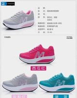 Wholesale Womens Casual Mesh Shape Ups Slip On Lace Up Walking Sport Shoes Sneakers Y52