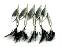 crappie jigs - Sequins Blade metal jigs baits fishing lures cm g Freshwater Walleye Crappie swinger Feathers hooks iron spoons spinners lure