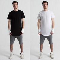 uomini di alta qualità hip hop t abbigliamento camicia camice di T sovradimensionato malloppo uomini di sport camisetas foro rotto kpop roccia HBA maglietta hombre nuovo