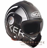 Wholesale European purchasing Nordic ROOF removable to expose deep space gray motorcycle helmet face motorcycle helmet Stock