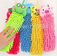 Wholesale Microfiber cartoon Hanging towel Cute animal cleaning towel DA68