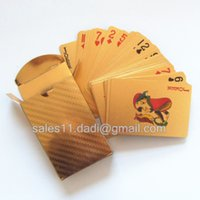 Wholesale by FEDEX sets Gold plated playing cards with certificate with stock