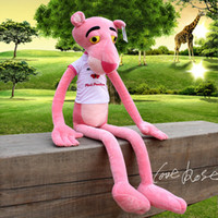 big children games - 130CM M Nici pink panther plush toys baby pink naughty leopard stuffed animals plush dolls children birthday gift HX