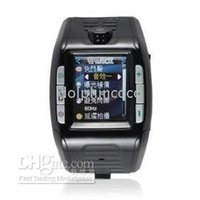 tri-band wrist watch cell phone - Watch Wrist Cell Phone Tri Band F3 red black