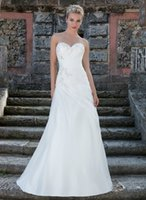 Model Pictures beaded lace motifs - 2016 organza asymmetrical ruching classic A line sweetheart neckline beaded motifs lace up back custom made wedding dresses