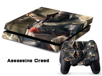 PS4/0004 assassins creed stickers - Assassins Creed LOGO DECAL SKIN PROTECTIVE STICKER for PS4 CONSOLE CONTROLLER