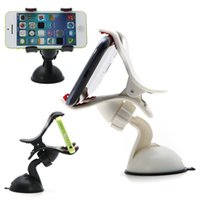 Wholesale Hot Selling Universal Car Windshield Mount Holder Bracket With a swivel head For iPhone Samsung Phones GPS PSP iPod MP3 MP4 Player