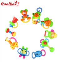 Wholesale 10pcs Milk Bottles Box large bottle rattles baby toys year old baby hand rattles dropping