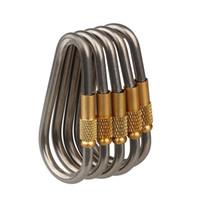 Wholesale 5pcs Titanium Ti Hanger Key Chain Key Ring Copper Locker Quickdraw Copper Cap Locker Buckle