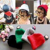 Wholesale Crochet Baby Kids Knitted Hat Winter Cap Beanies For Boys Girls