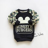 Cheap Cool! Mickey Mouse Baby Boys Clothes Pullover Blouse T-Shirts Cartoon Hoodie Tops Sweatshirts Spring Sport Tops Free shipping