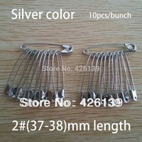 Wholesale mm length fashion large silver steel bulk safety pin