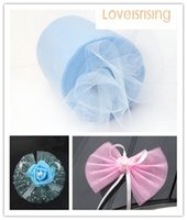 banquet centerpieces - Lowest Price New Arrivals Rolls quot x100y Blue Color Tulle Rolls Spool Tutu DIY Craft Wedding Banquet Fabric Wedding Car Decor