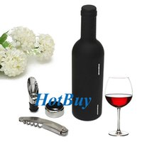 wine accessories - 3 Wine Bottle Accessory Cork Screw Opener Case Box Gift Set New