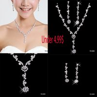 pearl alloy earrings - Under In Stock Alloy Plated Rhinestone Crystal Jewellery Set Bride Wedding Bridesmaid Prom
