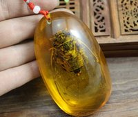 Wholesale ART Craft fake Amber cicada fossil size cm weight g handmade finger favors