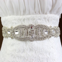Wholesale XW Elegant Exquisite Workmanship Sparkle Beaded And Pearl Bridal Sashes Wedding Dresses Belts Wedding Accessories Cheap
