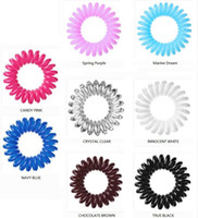 birthday presents - Invisibobble Traceless Hair Rings Hair Jewelry Plastic Rubber Bands Elastic Hair Ties Birthday Present Limited Edition with Package Box