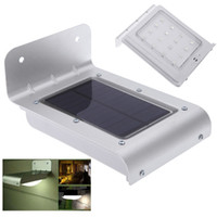 abs sensor - IP65 Water resistance Sound Sensor Lamp Lighing High efficiency Solar Power LEDs Wall Light Ray For Garden Yard ABS L0062