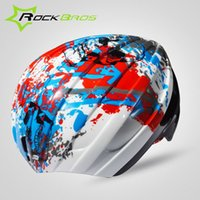 Wholesale ROCKBROS Fashion MTB Helmet Shell Rain Covers Integrally molded Safety Bicycle Helmet Designed For WT Helmet Colors