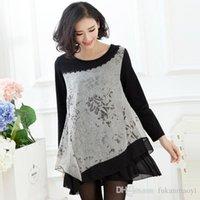 neck cotton collar - Drop Shipping Charming Women Fashion Black Dress Large Size L XL Good Quality Design O Neck Collar Lady Cotton Slim Dresses YP06026