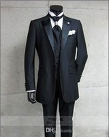 western suits - 2015New Black Designed fit White New wedding tuxedos Mens Tailored Suit Blazer Trouser Coat Pant Jacket Indo Western Wedding