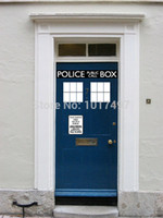Wholesale Fashion Cool Police Box door decal vinyl sticker Dr Who Doctor Style For Door fridge decoration