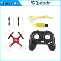 Wholesale FLYER A4 Mini Quadcopter RED CH G Axis Gyro with Light Degree Eversion RC Quadcopter Helicopters