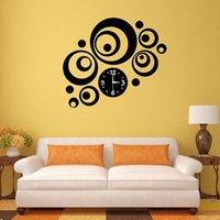 Acrylic artistic medium - Modern Home Decor DIY D Mirror Sticker Round Dial Artistic Wall Clock K5BO
