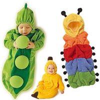 Cheap Baby Sleeping Bag Anti kick Quilt Cartoon Pea Banana Caterpillar Polar Fleece Baby romper 0-24M 712