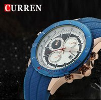 Wholesale Hot CURREN silicone strap watches for men casual fashion watch luxury watches quartz waterproof sports watch wristwatch
