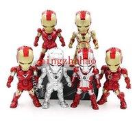 achat en gros de action man voiture-shippijng sans nouvelle vente de Set 6 Iron Man Mark42 action Decor MK5 Eye Light Car Figurine Toy Doll