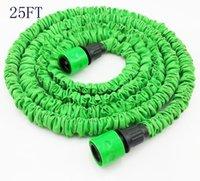 Cheap 60pcs lots good quality 25FT Flexible Expandable hose Irrigation Water Hose Green Color wholesale 1113#13