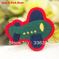 Iron-On airplane badge - new arrival cartoon airplane embroidered Iron On Patches garment bag badge Appliques diy accessory
