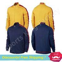 Wholesale La Liga Training Jacket Men Training tops Football Jacket Neymar Messi Training Wear SUAREZ Soccer Jacket