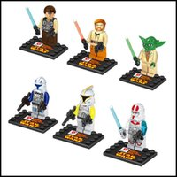 Wholesale 2015 kids Star wars fancy toys Building blocks Yoda Anakin storm troopers action figure sets bricks J072904