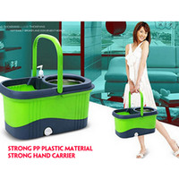 spin mop - Portable car home use stainless pole quality hand press spin dry magic easy mop for floor cleaning rotating mop jj tb