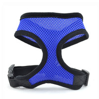Wholesale S5Q Multi colored Adjustable Pet Dog Soft Breathable Air Mesh Puppy Vest Harness AAAEOA