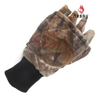 Wholesale Hasky New Arrival Camouflage Hooded Thick Warm Gloves Fashion Brand Men Women Outdoor Riding Cycling Mittens Free post XQQ ST