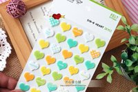 Wholesale Korea Stationery Decorative Stickers Affixed Cloth Stereo Stickers And Colorful Little Plaid Blanket Of Love
