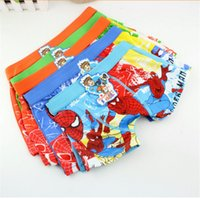 Wholesale 2015 Spiderman Underwear Kids Boys Cartoon characters infantil Boxers Underwear Children Clothes Clothing Briefs Hot Sale