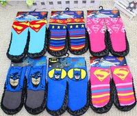 100 % wool socks - 100 cotton AAA quality styles superman batman for kids girls boy warm wool knit handmade socks leg warmers gift topB1498 pairs