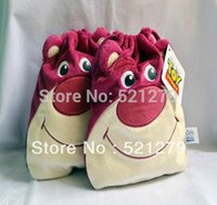 Wholesale Toy Story Lotso plush bags Toy story storage bags Toy story Lotso buggy bags