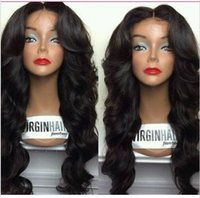 Wholesale Cheap quality human hair wigs wavy glueless brazilian full lace wigs front lace wigs easy to care density with natural hairline